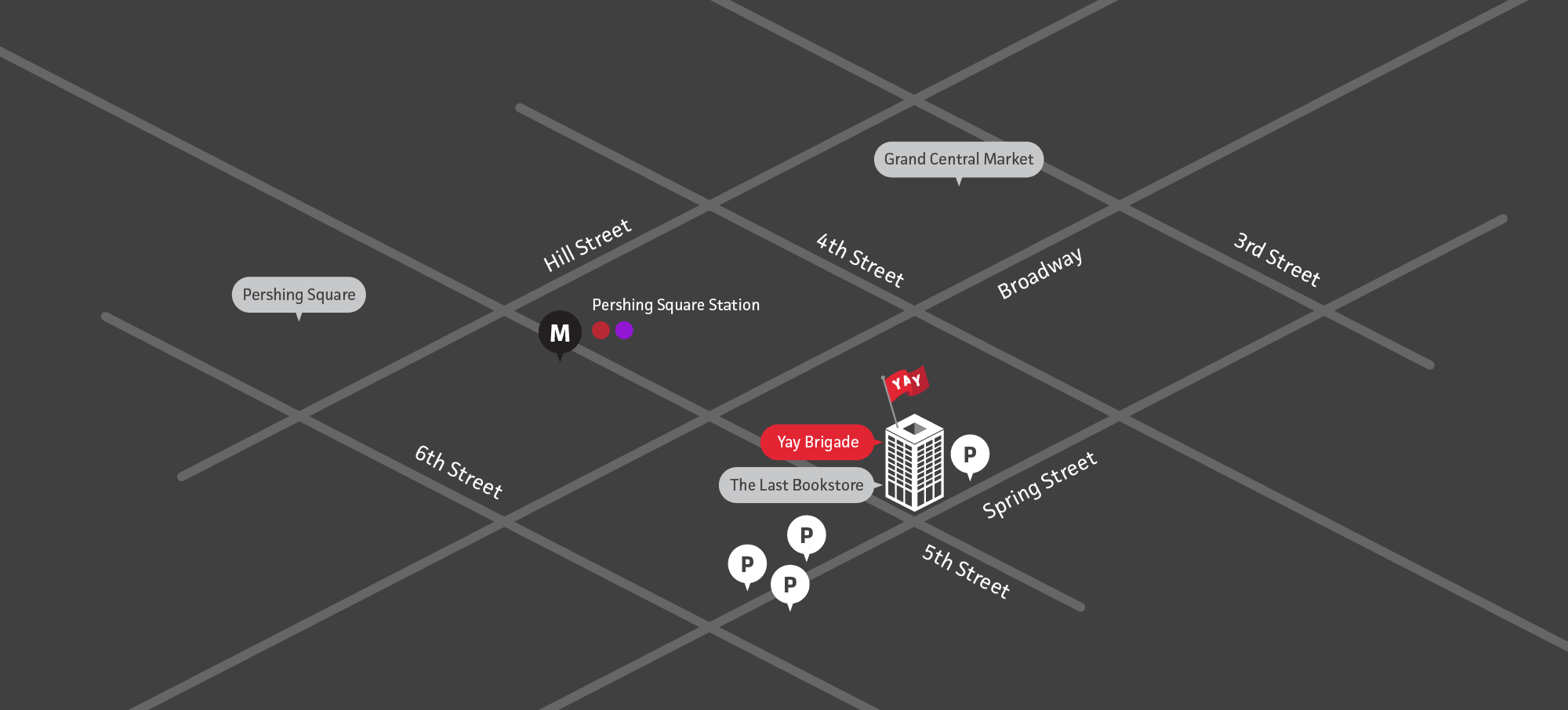 Map of our studio at 453 S Spring Street #933