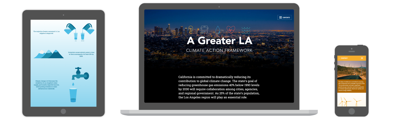 A Greater LA: Climate Action Framework website