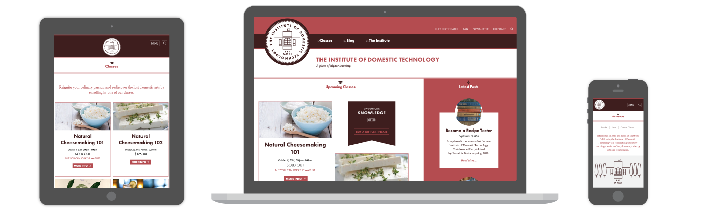 The Institute of Domestic Technology website