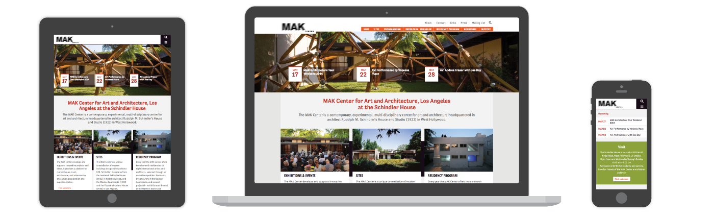 MAK Center for Art and Architecture Website